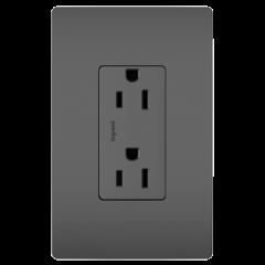 34185 - Prise de courant 15amp noir mat