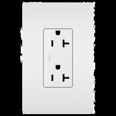 28010 - Prise de courant 20 amp blanche satinée.
