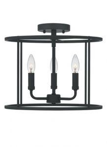 54606 - Luminaire semi-plafonnier noir mat.
