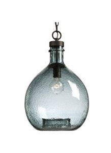 30436 - Suspendu bronze avec verre recyclé.