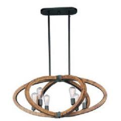 13472 - Luminaire suspendu en bois.