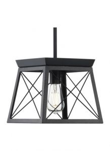 60022 - Luminaire suspendu noir.