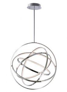 30701 - Sphère suspendu moderne chrome.