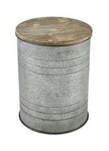 41152 - Table en acier et bois.